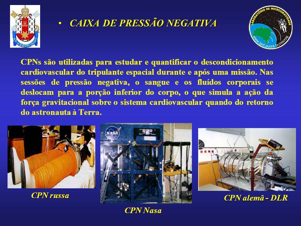 CPNs são utilizadas para estudar e quantificar o descondicionamento cardiovascular do tripulante espacial durante e após uma missão. Nas sessões de pr