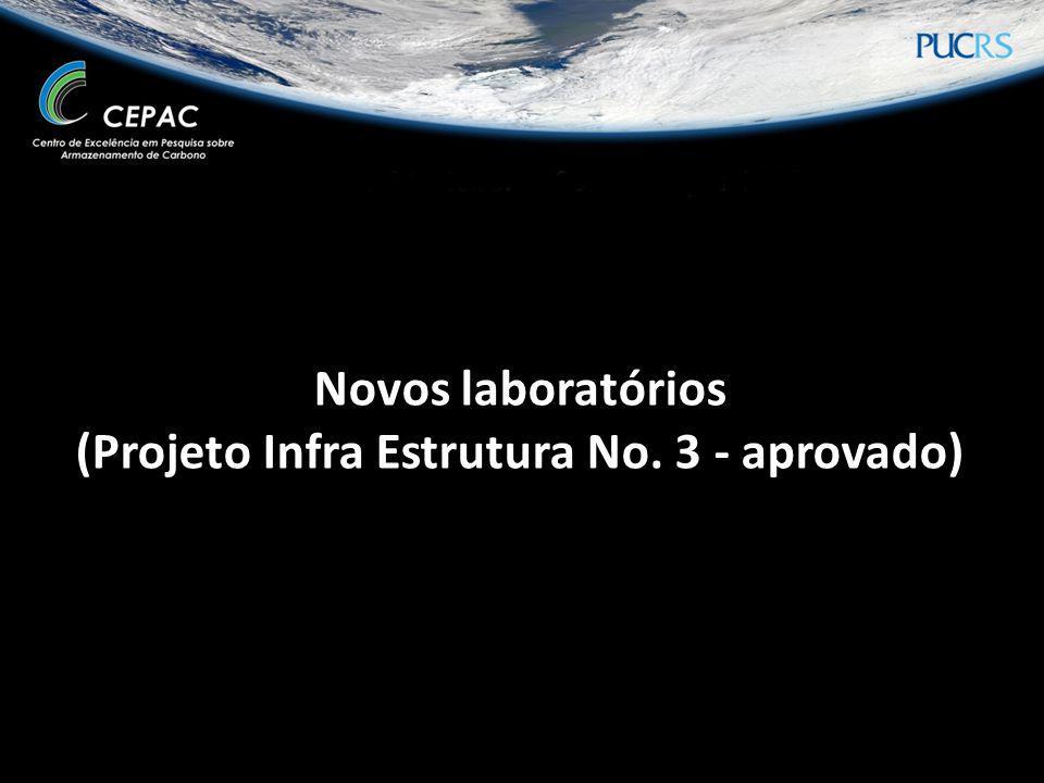 Novos laboratórios (Projeto Infra Estrutura No. 3 - aprovado)
