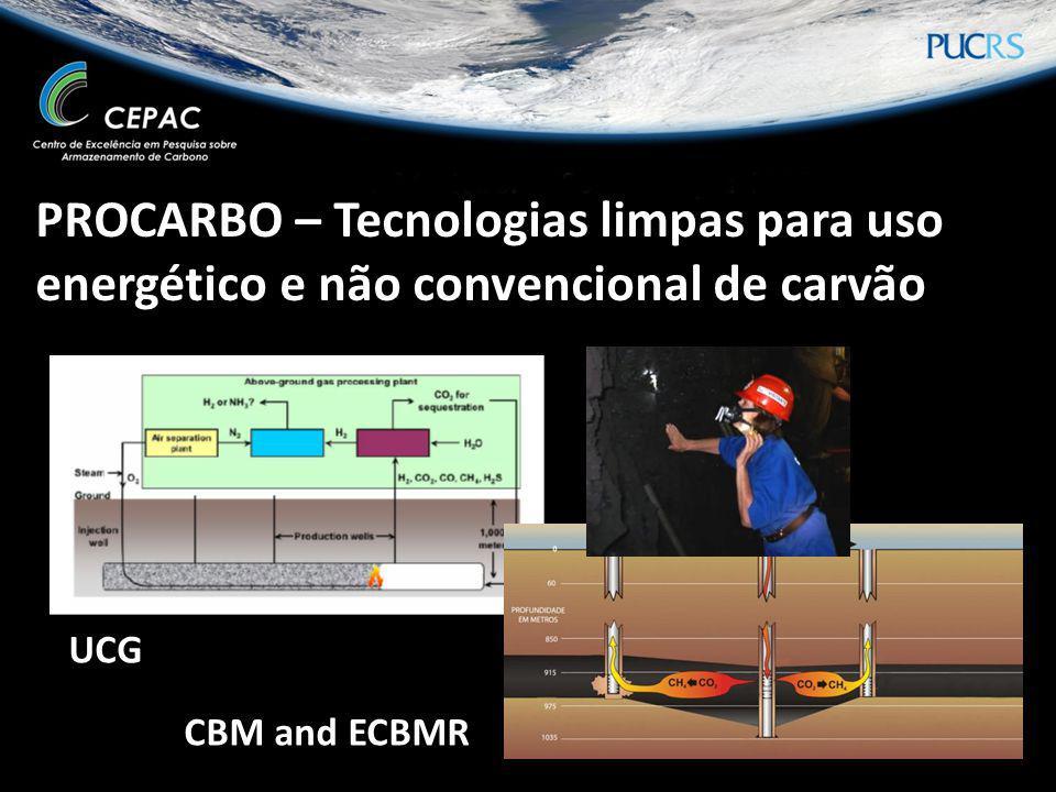 PROCARBO – Tecnologias limpas para uso energético e não convencional de carvão UCG CBM and ECBMR