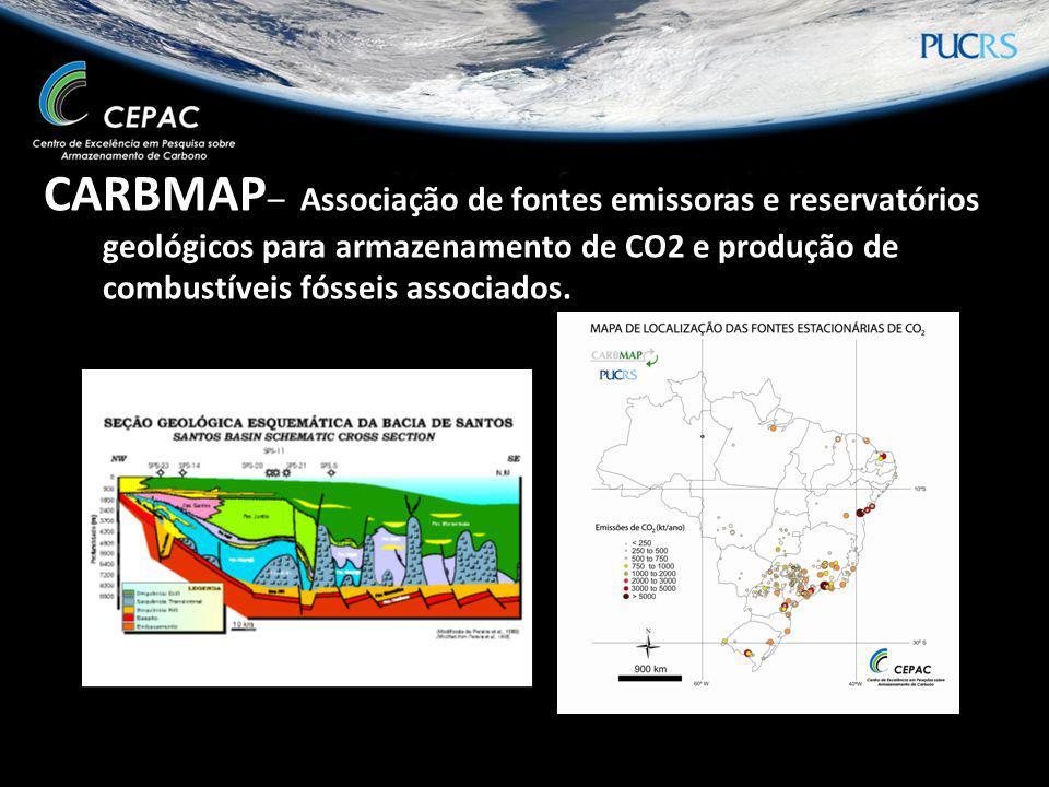 CARBMAP – Associação de fontes emissoras e reservatórios geológicos para armazenamento de CO2 e produção de combustíveis fósseis associados.