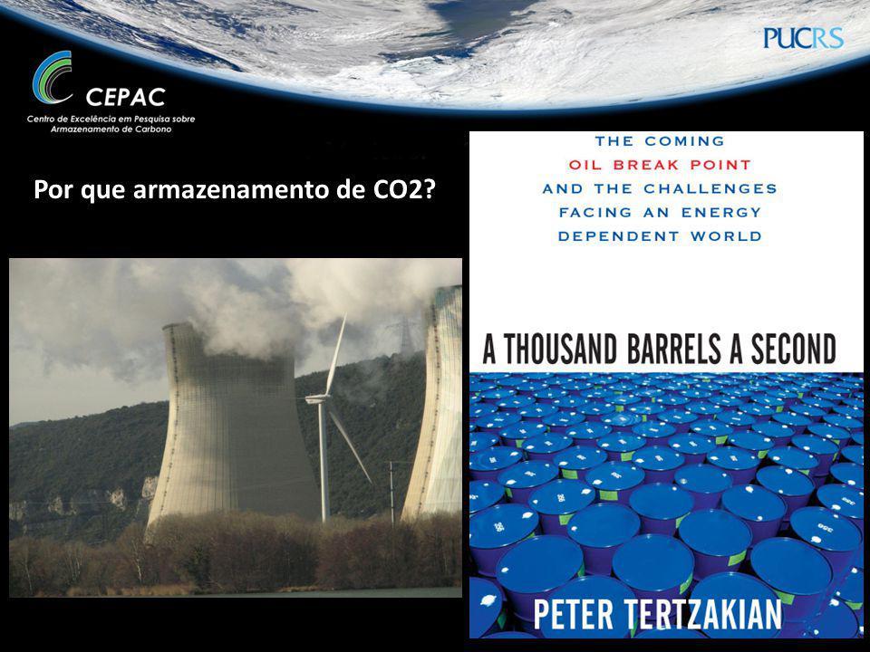 Por que armazenamento de CO2?