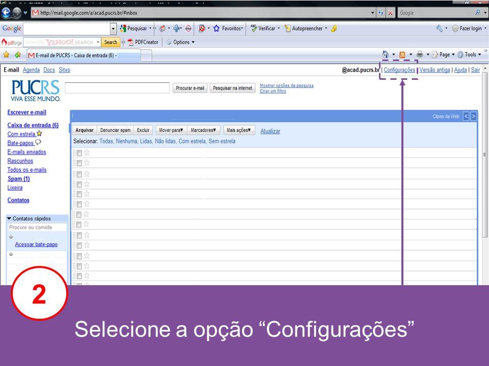 Selecione a opção Encaminhamento e POP/IMAP 3