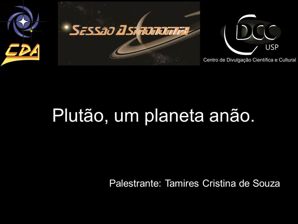 Plutão, um planeta anão. Palestrante: Tamires Cristina de Souza