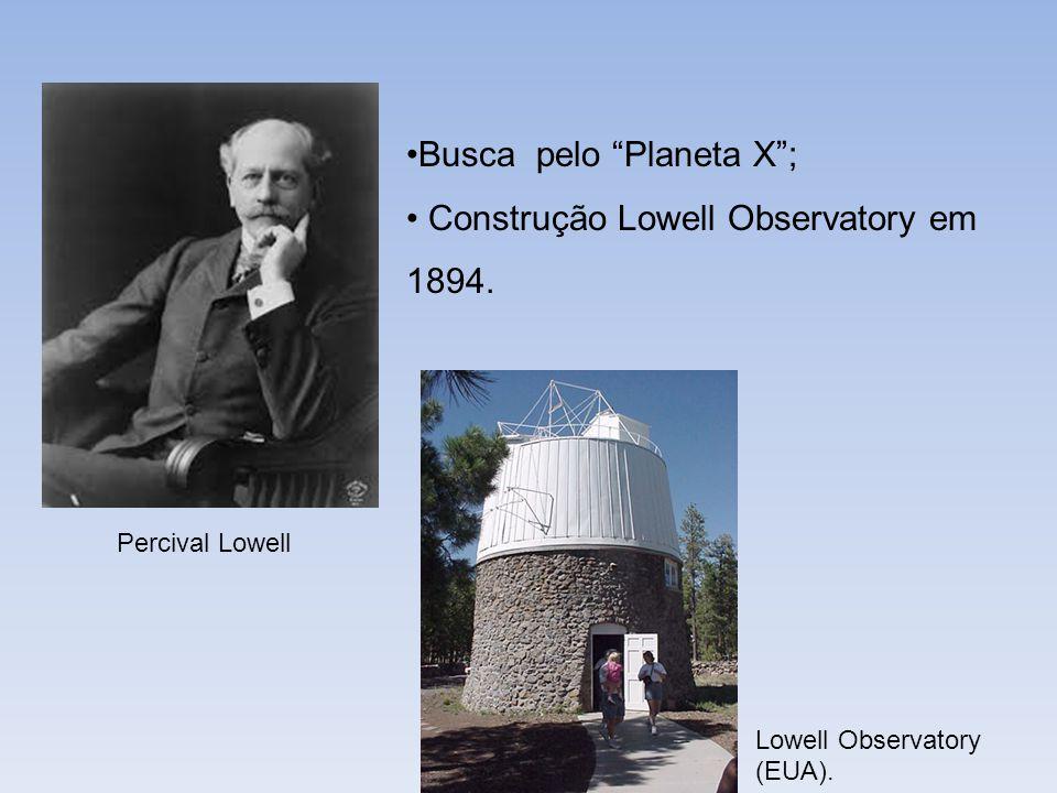 Busca pelo Planeta X; Construção Lowell Observatory em 1894. Percival Lowell Lowell Observatory (EUA).