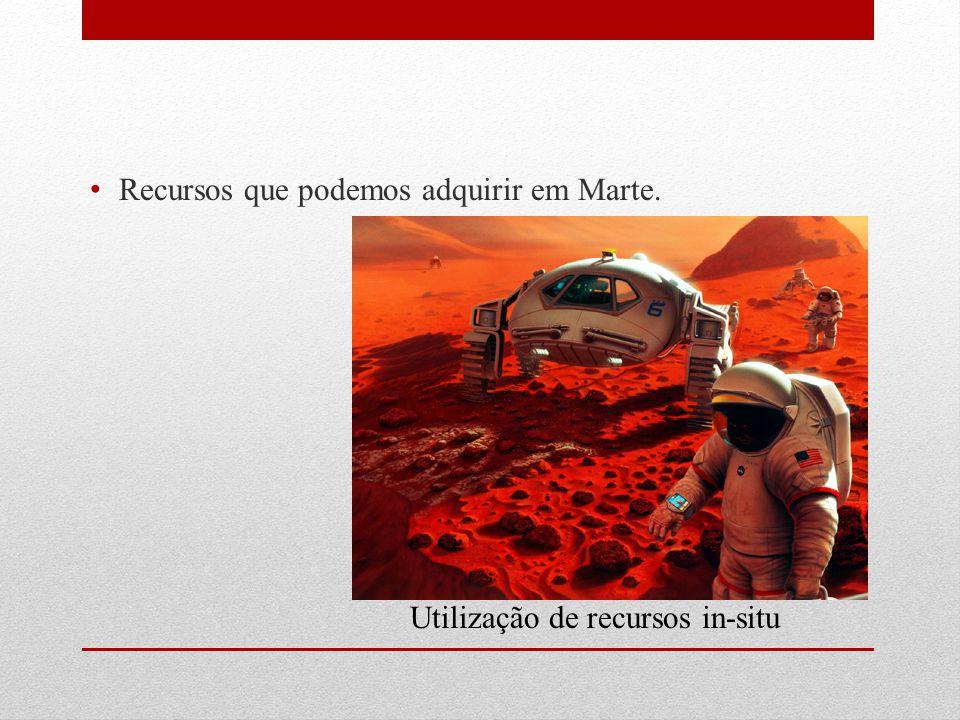 Recursos que podemos adquirir em Marte. Utilização de recursos in-situ