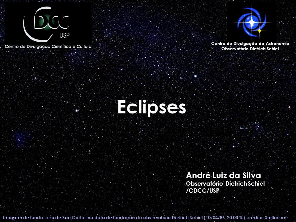 o Próximos eclipses totais do Sol (visíveis do Brasil): o 12 de agosto de 2045 o 11 de maio de 2059 o Próximo eclipse total da Lua visível no Brasil: o 15 de abril de 201415 de abril de 2014 o 27 de setembro de 201527 de setembro de 2015