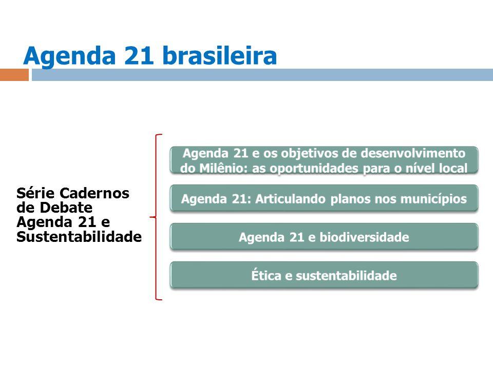 Agenda 21 brasileira Série Cadernos de Debate Agenda 21 e Sustentabilidade