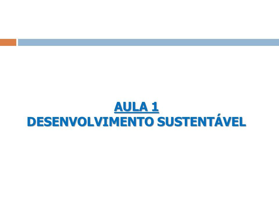 AULA 1 DESENVOLVIMENTO SUSTENTÁVEL