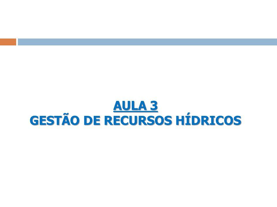 AULA 3 GESTÃO DE RECURSOS HÍDRICOS