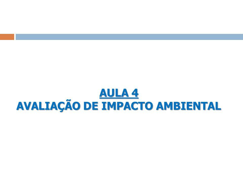 AULA 4 AVALIAÇÃO DE IMPACTO AMBIENTAL