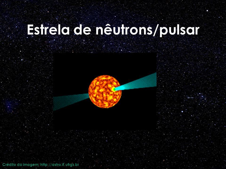 Estrela de nêutrons/pulsar Crédito da imagem: http://astro.if.ufrgs.br