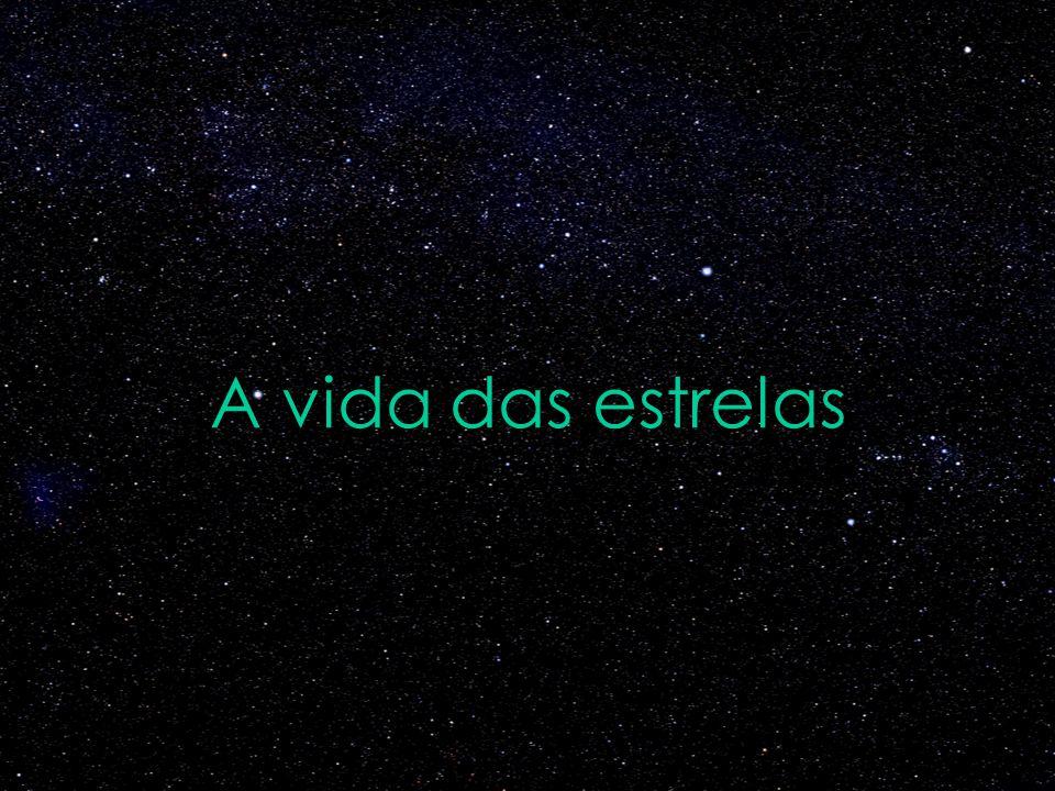 A vida do Sol Nuvem interestelar Sol no estágio de sequencia principal Imagens fora de escala Gigante vermelha Nebulosa planetária Anã branca