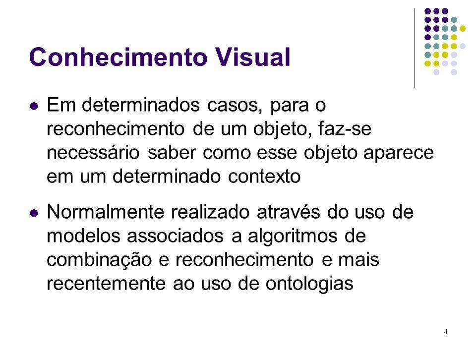 4 Conhecimento Visual Em determinados casos, para o reconhecimento de um objeto, faz-se necessário saber como esse objeto aparece em um determinado co