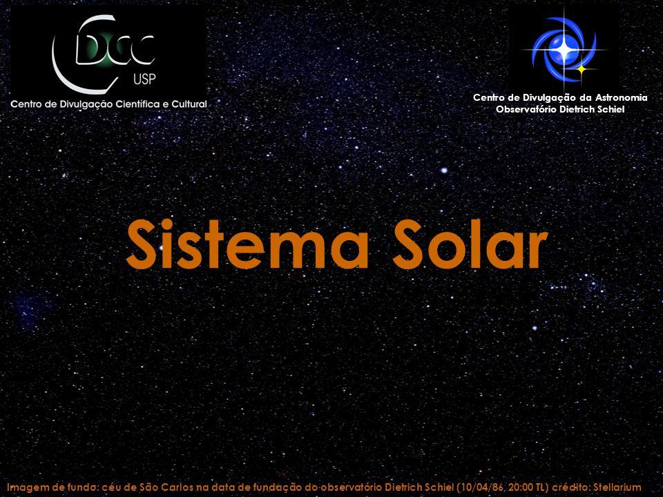 Imagem de fundo: céu de São Carlos na data de fundação do observatório Dietrich Schiel (10/04/86, 20:00 TL) crédito: Stellarium Centro de Divulgação d