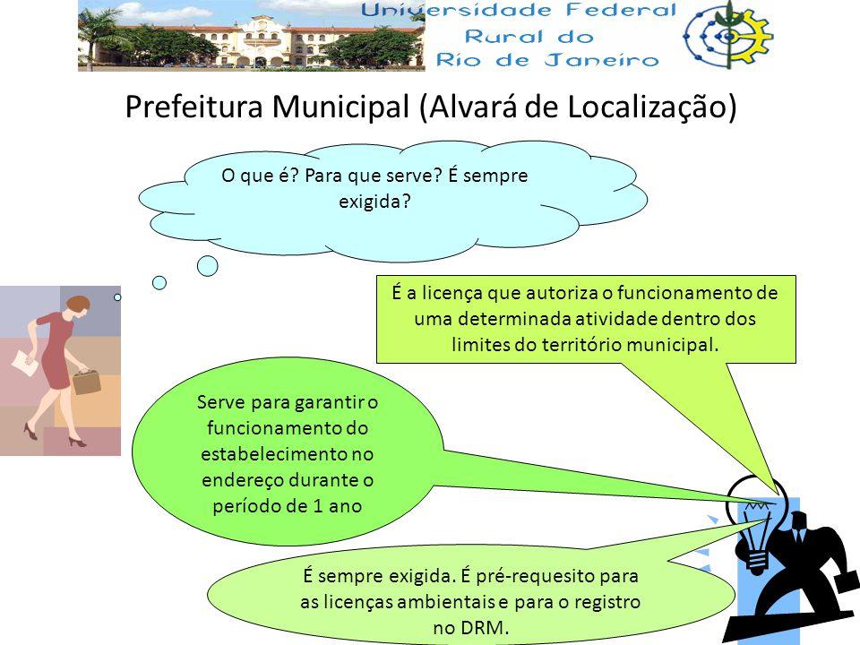 Prefeitura Municipal (Alvará de Localização) O que é? Para que serve? É sempre exigida? É a licença que autoriza o funcionamento de uma determinada at