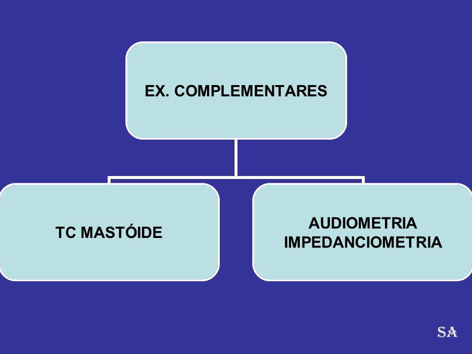 EX. COMPLEMENTARES TC MASTÓIDE AUDIOMETRIA IMPEDANCIOMETRIA SA