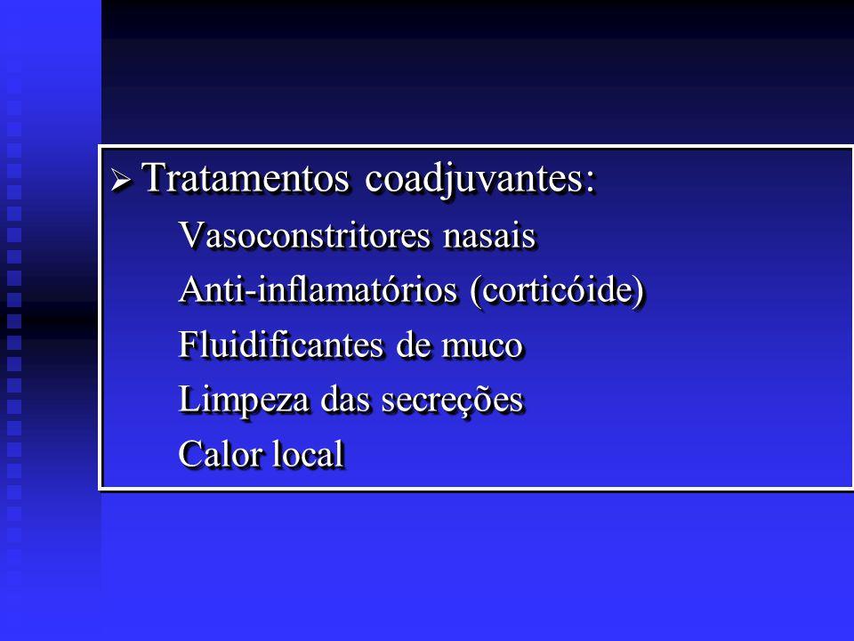 Complicações: Complicações: Mastoidite aguda Paralisia facial periférica Complicações intracranianas Complicações: Complicações: Mastoidite aguda Paralisia facial periférica Complicações intracranianas