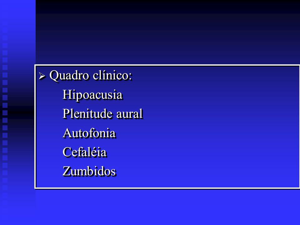 Otite média Aguda Recorrente Recidivas freqüentes de OMA 3 ou mais diferentes e documentados episódios de OMA em 6 meses ou 4 ou mais episódios em 12 meses.
