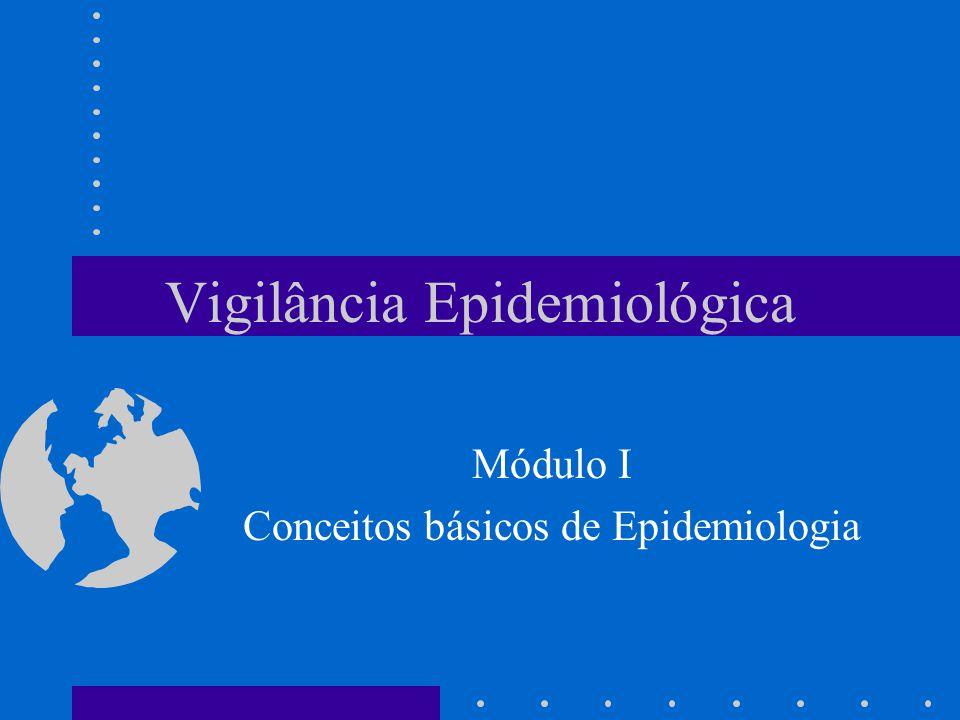 Vigilância Epidemiológica Módulo I Conceitos básicos de Epidemiologia