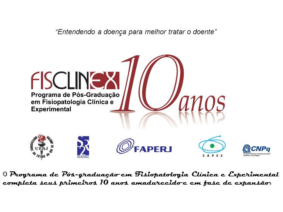 Programa de Pós-Graduação em Fisiopatologia Clínica e Experimental – CLINEX/UERJ Nível: Mestrado e Doutorado Área de Concentração: Fisiopatologia Ano de Início: 1997 Avaliação da CAPES: 05 (cinco) Nome do Coordenador: Profº.