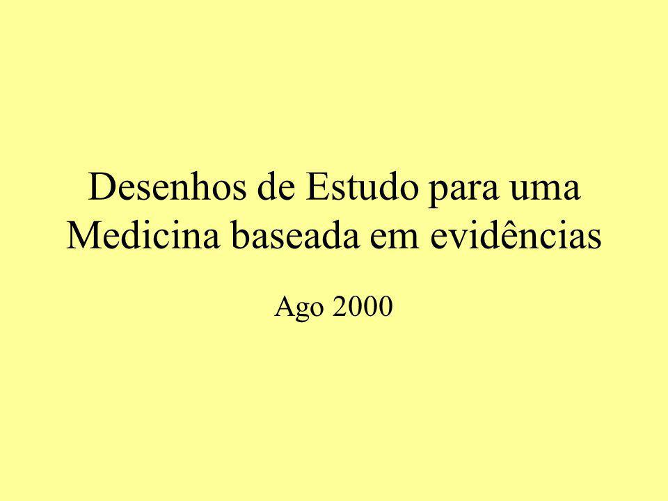 Desenhos de Estudo para uma Medicina baseada em evidências Ago 2000