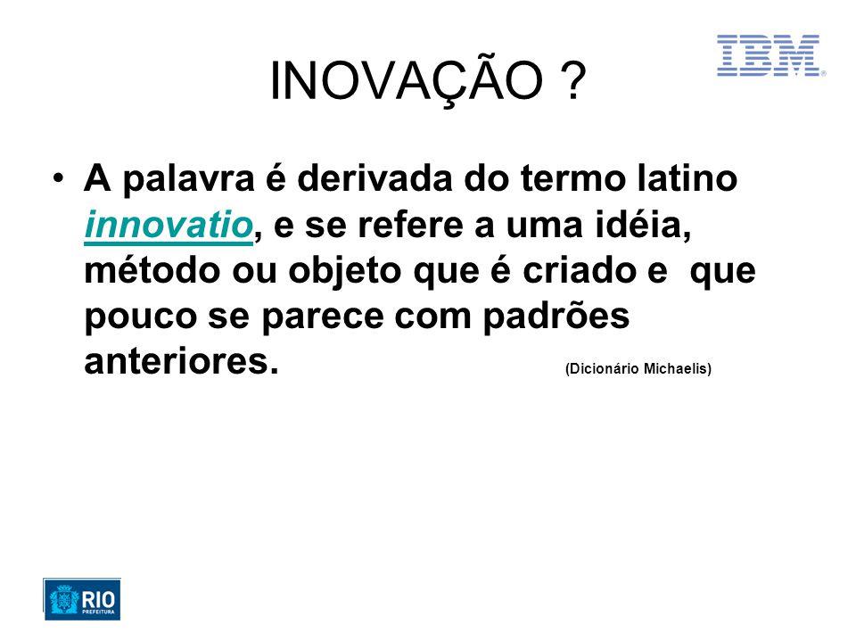 O paradoxo da inovação em Gerenciamento de Projetos INOVAÇÃO PROJETO Jeito novo Quebrar paradigmas Criatividade Surpreender PrevisibilidadeOrganização Método Melhores Práticas Evitar ou Controlar mudanças