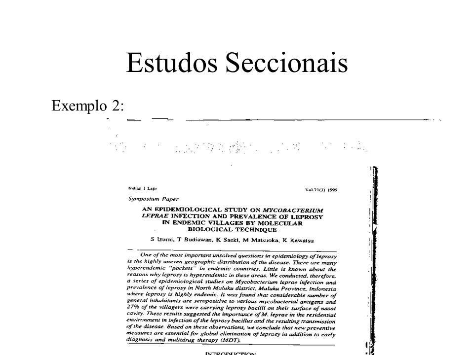 Estudos Seccionais