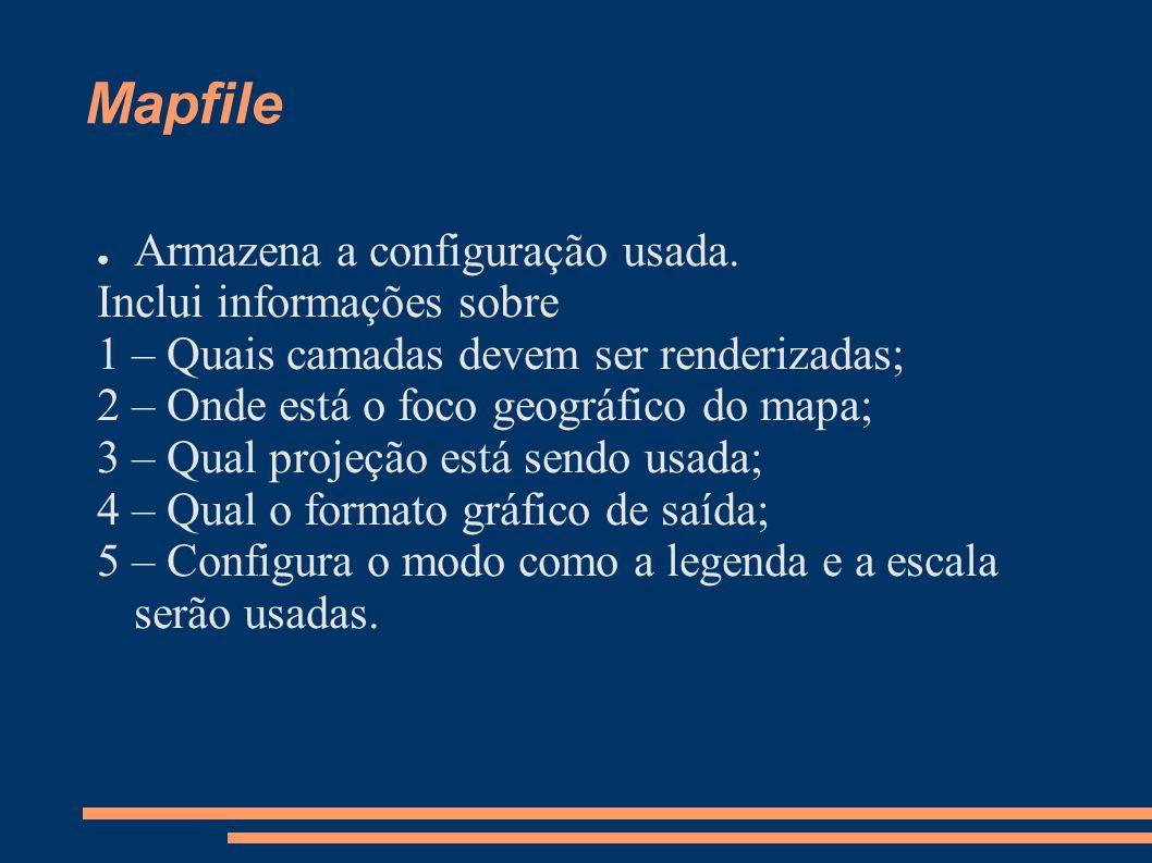 Mapfile Armazena a configuração usada.