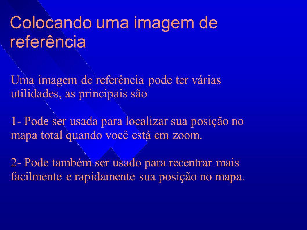 Colocando uma imagem de referência Uma imagem de referência pode ter várias utilidades, as principais são 1- Pode ser usada para localizar sua posição