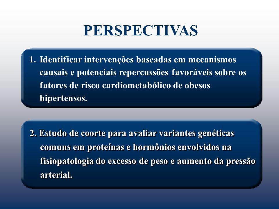 1.Identificar intervenções baseadas em mecanismos causais e potenciais repercussões favoráveis sobre os fatores de risco cardiometabólico de obesos hi