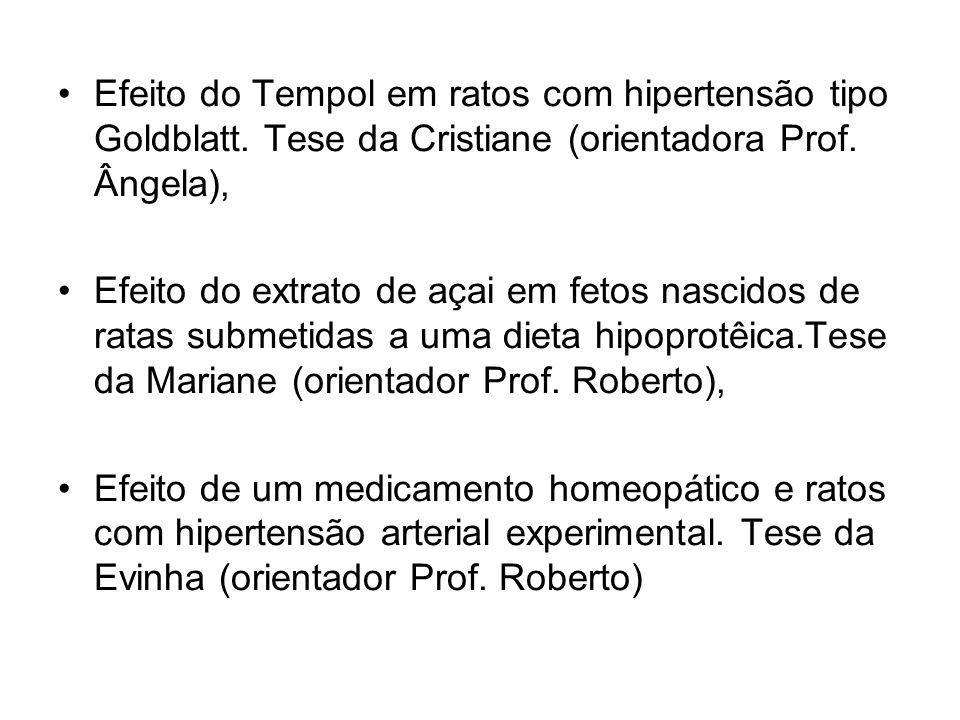 Efeito do Tempol em ratos com hipertensão tipo Goldblatt. Tese da Cristiane (orientadora Prof. Ângela), Efeito do extrato de açai em fetos nascidos de