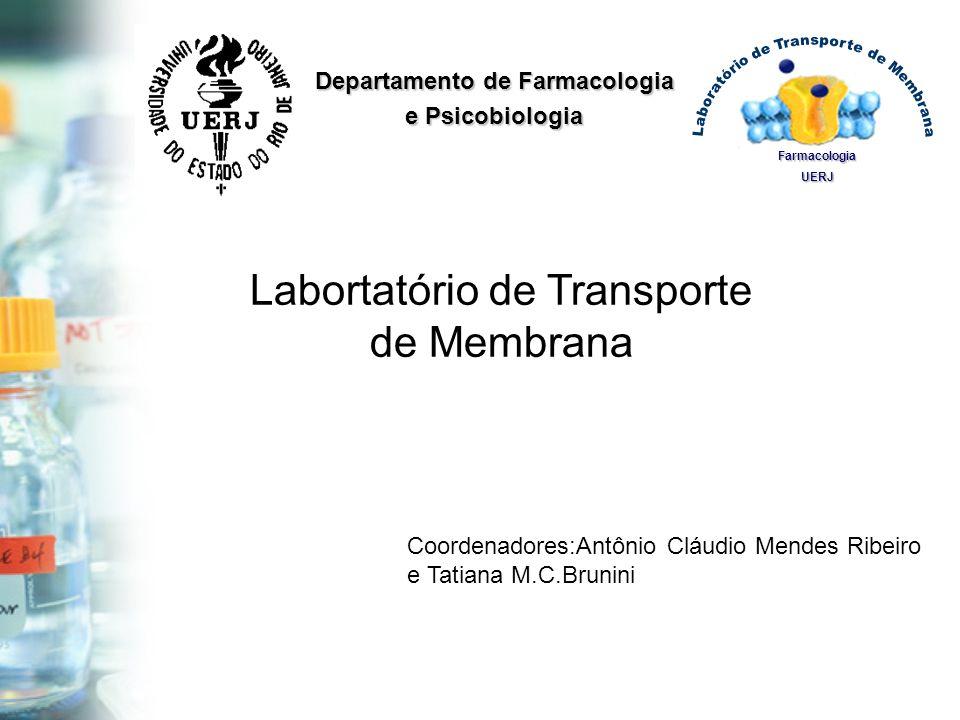Coordenadores:Antônio Cláudio Mendes Ribeiro e Tatiana M.C.Brunini FarmacologiaUERJ Departamento de Farmacologia e Psicobiologia Labortatório de Trans