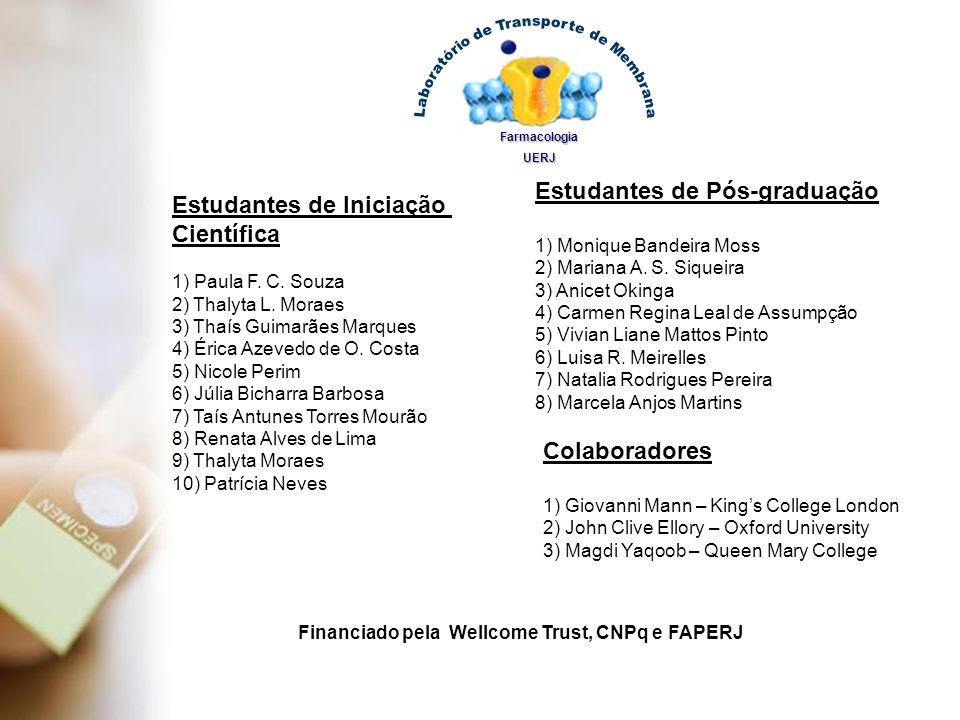 Estudantes de Iniciação Científica 1) Paula F. C. Souza 2) Thalyta L. Moraes 3) Thaís Guimarães Marques 4) Érica Azevedo de O. Costa 5) Nicole Perim 6