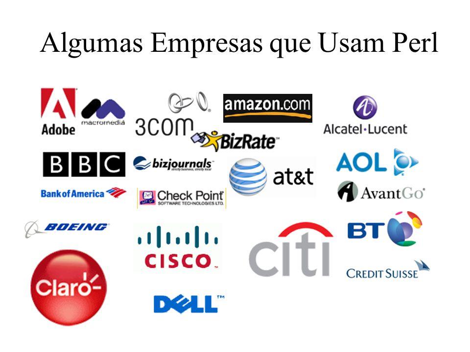 Algumas Empresas que Usam Perl