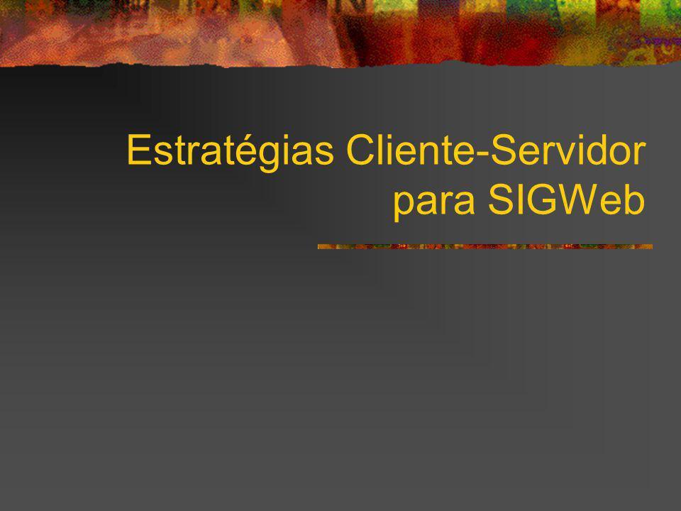 Estratégias Cliente-Servidor para SIGWeb