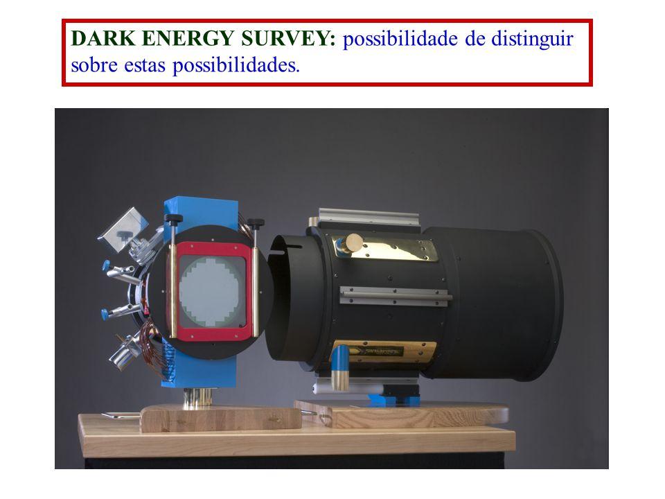 DARK ENERGY SURVEY: possibilidade de distinguir sobre estas possibilidades.