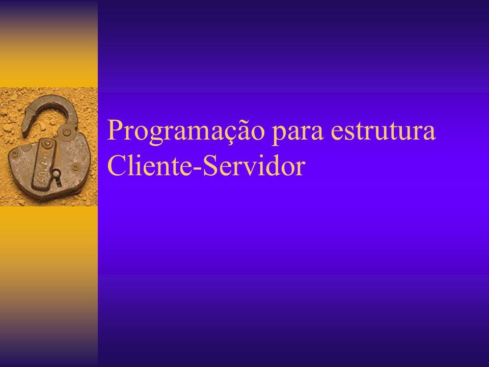 Programação Programação Cliente-Servidor ServidorCliente Programas Compilados Scripts do Servidor Programas Compilados Scripts do Cliente