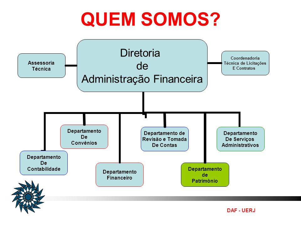 DAF - UERJ EXECUTAR O CONTROLE INTERNO DA UNIVERSIDADE DO ESTADO DO RIO DE JANEIRO - UERJ MISSÃO