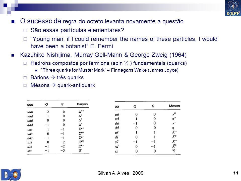Gilvan A. Alves 2009 11 O sucesso da regra do octeto levanta novamente a questão São essas partículas elementares? Young man, if I could remember the