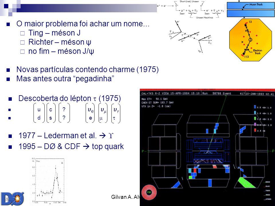 Gilvan A. Alves 2009 16 O maior problema foi achar um nome... Ting – méson J Richter – méson ψ no fim – méson J/ψ Novas partículas contendo charme (19