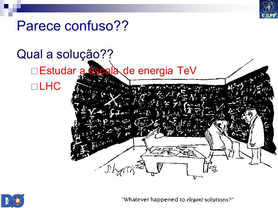 Gilvan A. Alves 2009 27 Parece confuso?? Qual a solução?? Estudar a escala de energia TeV LHC