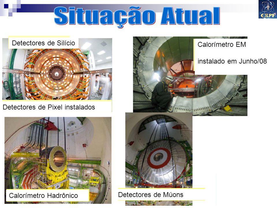 Gilvan A. Alves 2009 35 Calorímetro EM instalado em Junho/08 Detectores de Múons Calorímetro Hadrônico Detectores de Pixel instalados Detectores de Si