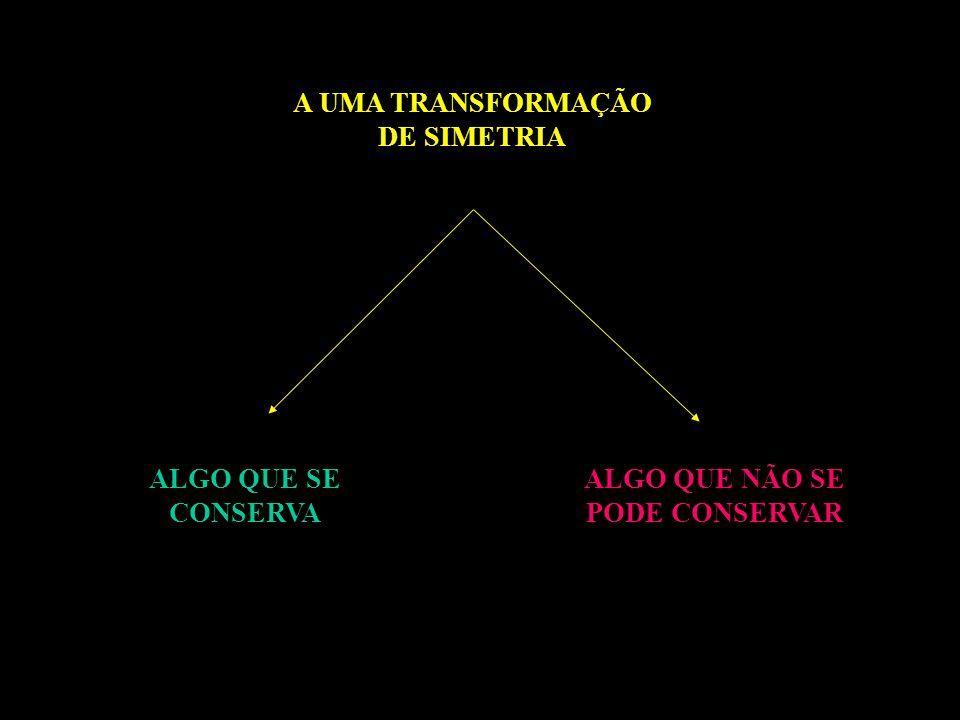 A UMA TRANSFORMAÇÃO DE SIMETRIA ALGO QUE SE CONSERVA ALGO QUE NÃO SE PODE CONSERVAR