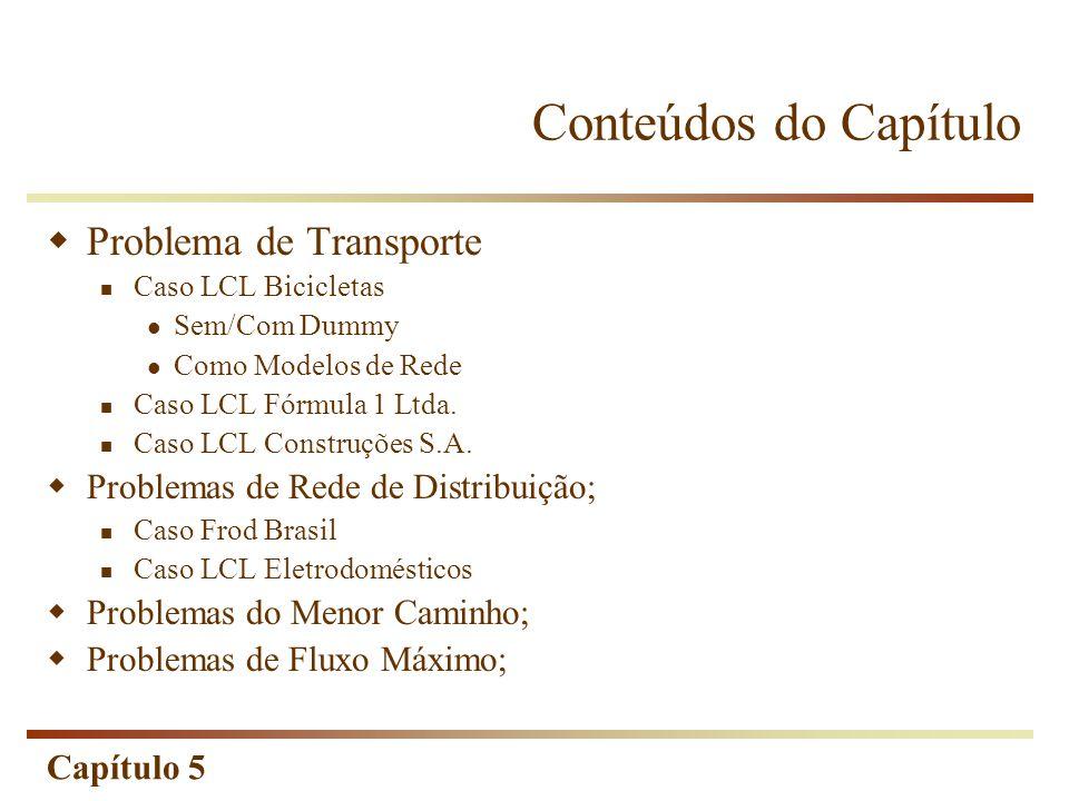 Capítulo 5 Caso LCL Bicicletas Parâmetros e Opções do Solver