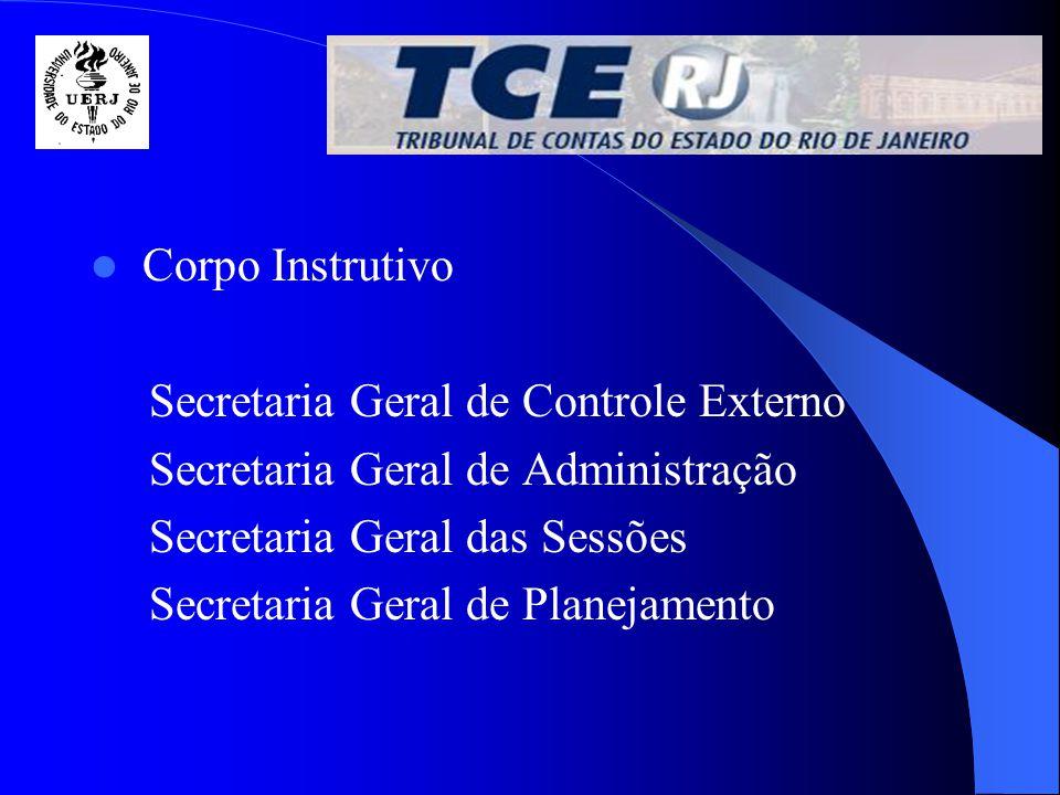 É composto por técnicos que desempenham a atividade fim do TCE, controle externo, e outros para atividades de apoio ao controle externo, administração e planejamento p.e.