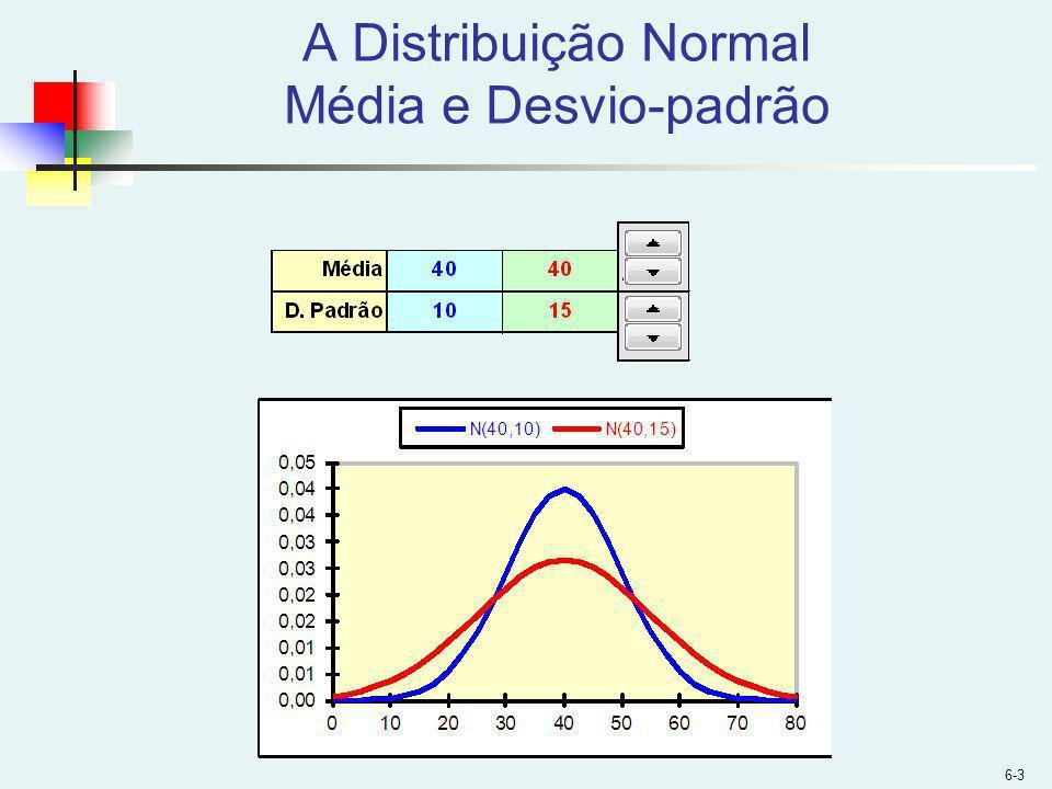 A Distribuição Normal Média e Desvio-padrão 6-3