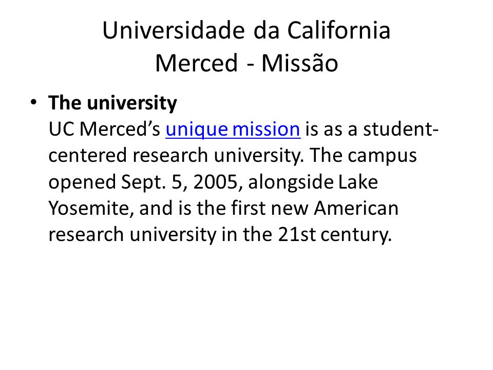UC Merced Os Centros, Profs&Estudantes Three schools, The School of Engineering, The School of Natural Sciences and The School of Social Sciences, Humanities and Arts, an ever- expanding list of majors, minors and and graduate programs, more than 80 full-time faculty members and dozens of lecturers.