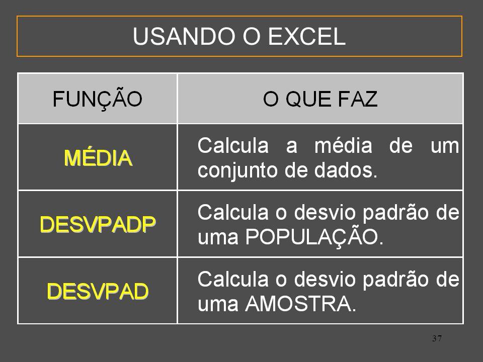 37 USANDO O EXCEL