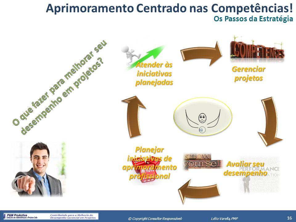 X Seminário de Gerenciamento de Projetos 16 © Copyright Consultor Responsável:Lélio Varella, PMP Gerenciar projetos Avaliar seu desempenho Planejar in