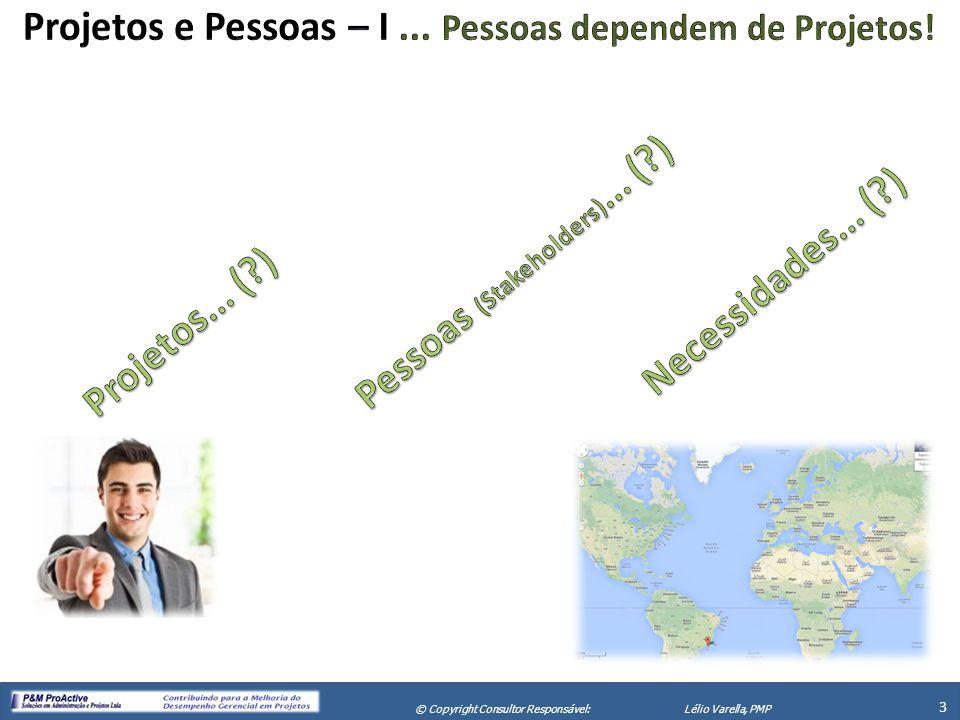 X Seminário de Gerenciamento de Projetos 3 © Copyright Consultor Responsável:Lélio Varella, PMP